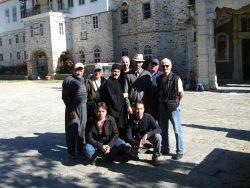 Grup pelerini la Athos-
