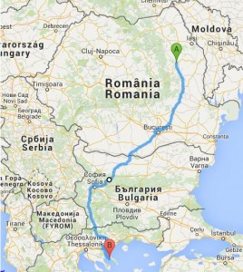 Harta traseu