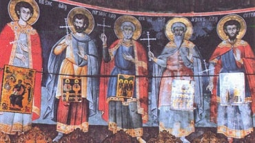 Cei-Cinci-Mucenici-așa-cum-sunt-zugrăviți-în-kyriakonul-Schitului-Sfintei-Ana