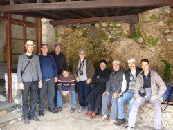 Grup de pelerini la Muntele Athos