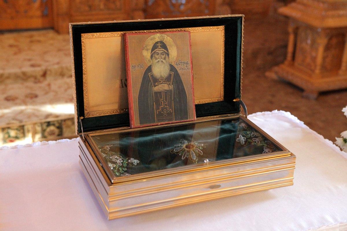Moaste Sfantul Antipa Atonitul