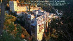 Pelerinaj la Muntele Athos 16–21 ianuarie 2018. Participare la privegherile pe vechi pentru două praznice mari Botezul Domnului şi Sfântul Ioan Botezătorul.